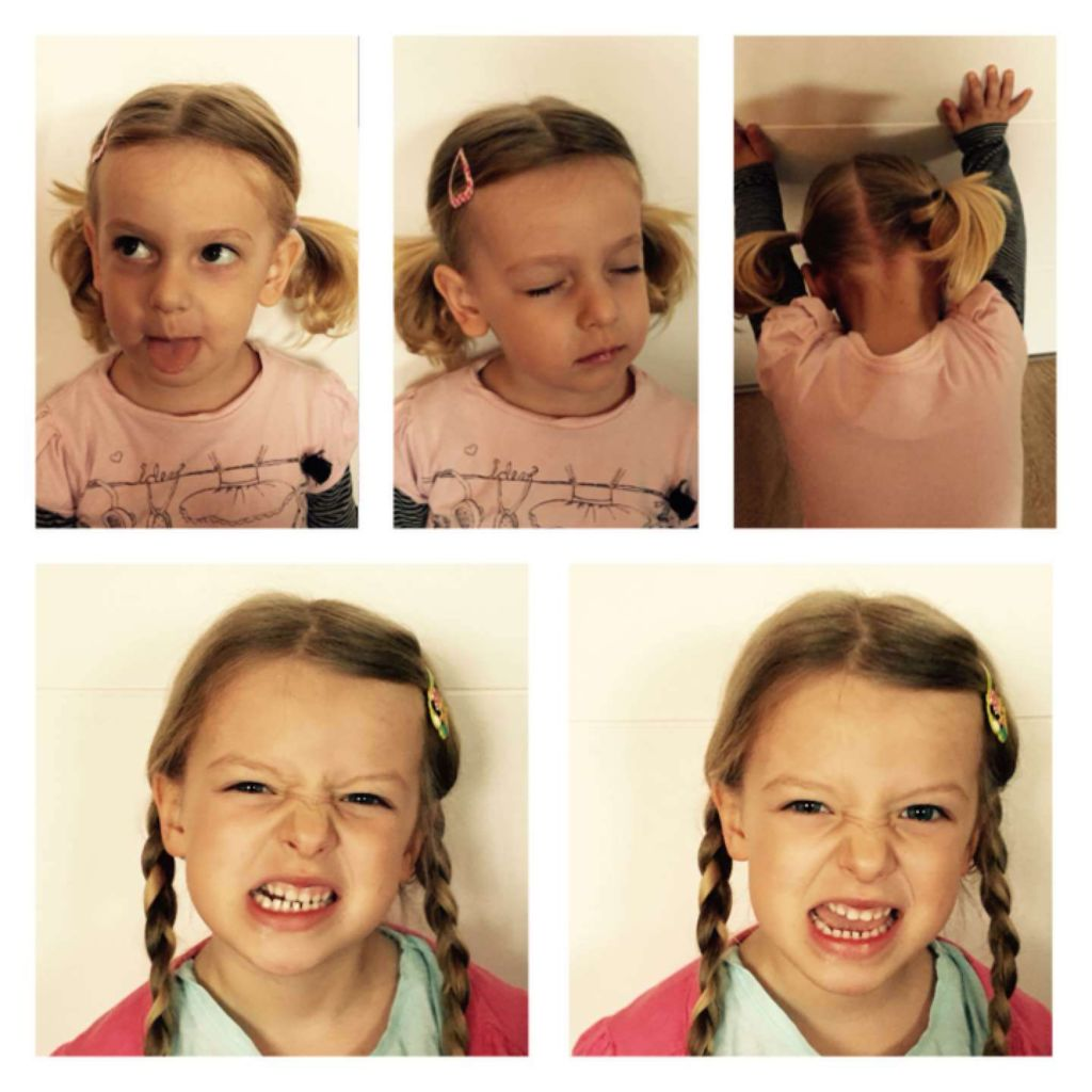 Einfache Frisuren für Mädchen: Mädchen mit Pipi Zöpfen oder straff geflochten.