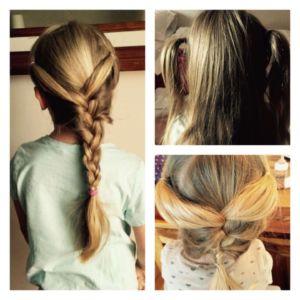 So kann man einfache Frisuren für Mädchen leicht umsetzen: Flechten, seitliche Köpfchen oder beides gemischt in einer ZöfpchenKombination