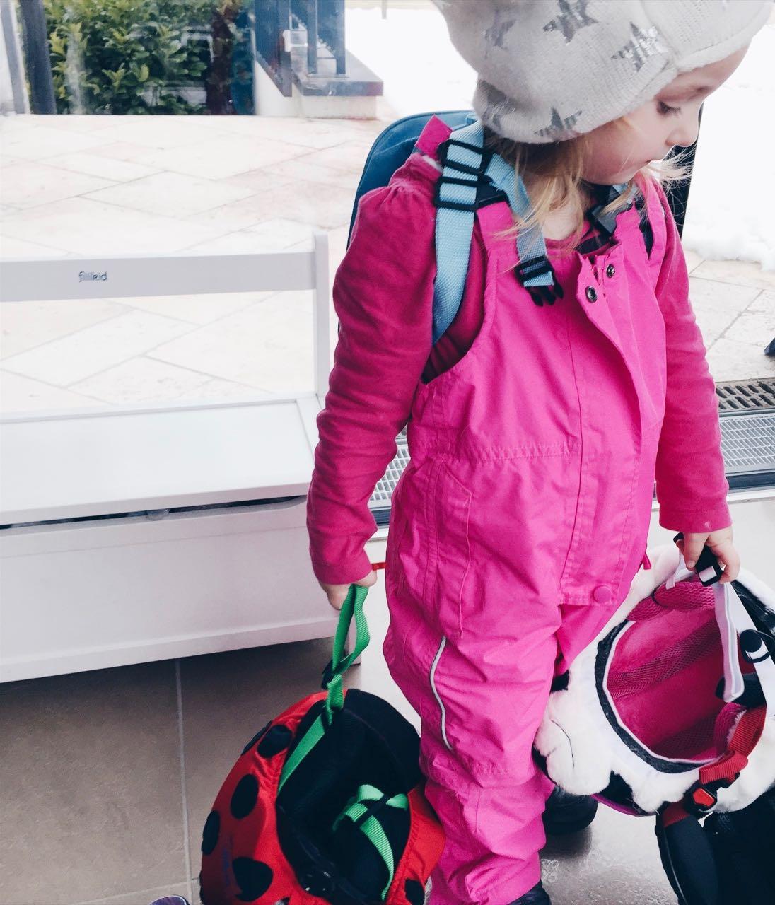 Ski fahren mit drei Kindern 2