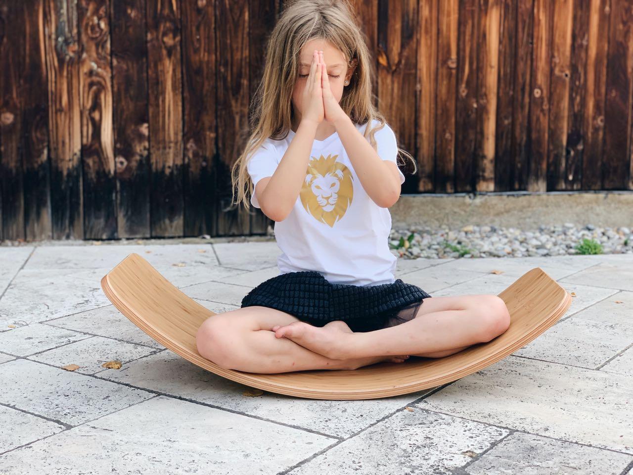 Meditation am Wobble board