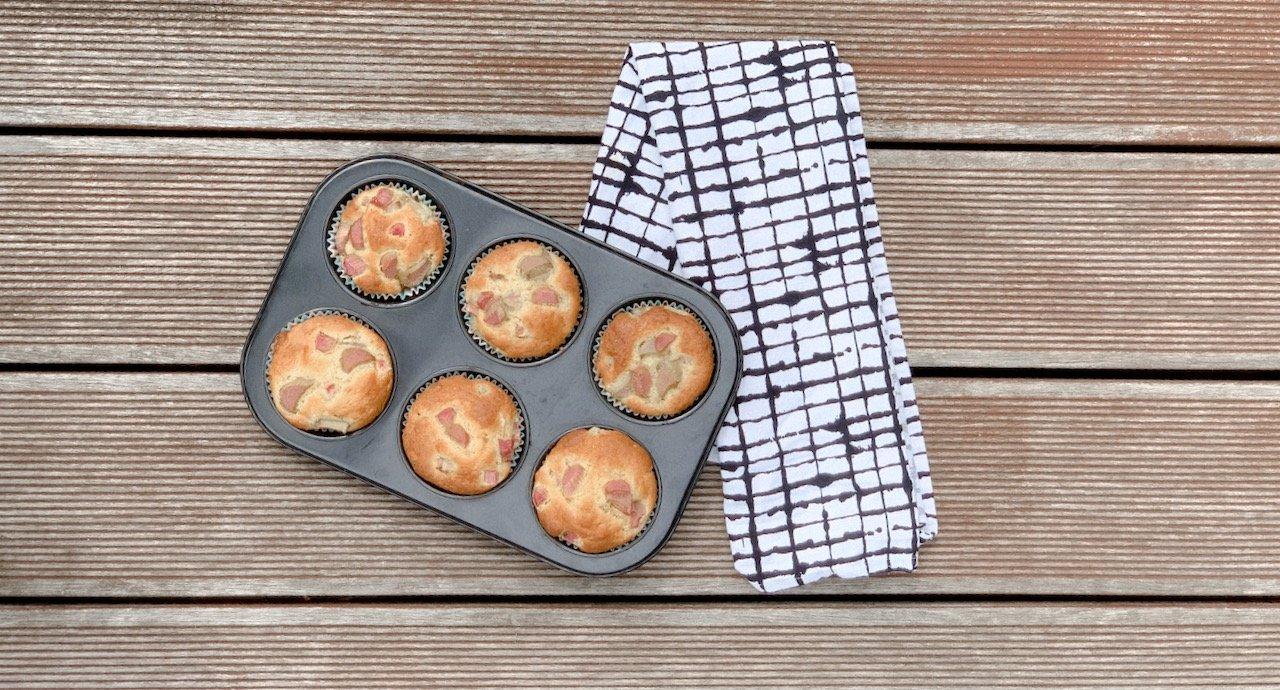 Kinderleichte Rhabarber Muffins MamaWahnsinn