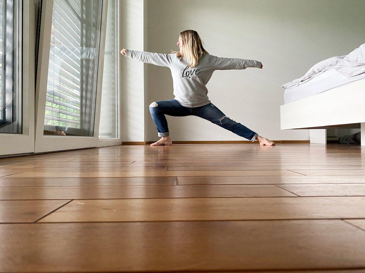 Morgen Yoga Flow Mama MamaWahnsinnHochvier