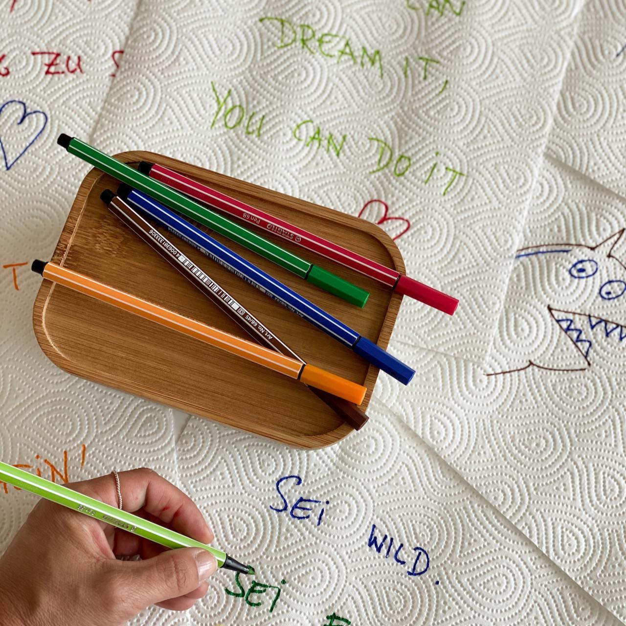 Sei frech. Sei wild. Sei wunderbar. Aufmunternde Zitate für die Kinder. Schnelle Nachrichten für die Jausenbox.