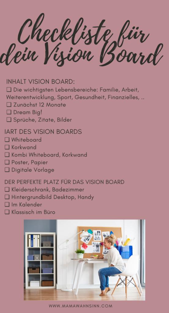 Checkliste für dein Vision Board - so erfüllst du dir deine Träume.