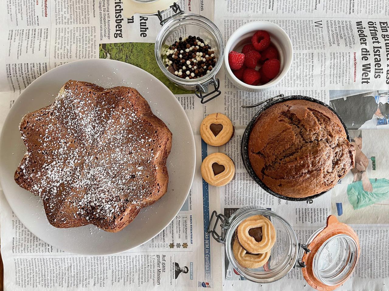 So gut! Ein einfacher Schoko Kuchen mit Dinkelmehl, der allen schmeckt.